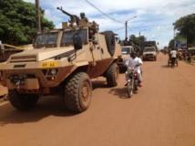 Patrouille de la Fomac à Bangui. Laurent Correau / RFI