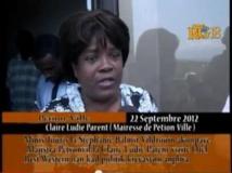 Calire Lydie Parent, ancienne maire de Pétionville, le 22 septembre 2012. capture d'écran Youtube
