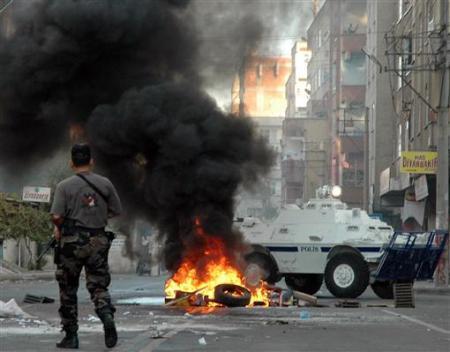 Incidents entre manifestants kurdes et policiers à Diyarbakir, dans le sud-est kurde de la Turquie