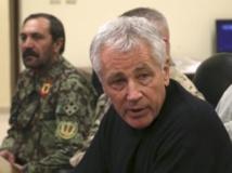 Le secrétaire américain à la Défense Chuck Hagel à Kandahar, dimanche 8 décembre 2013 REUTERS/Mark Wilson/Pool