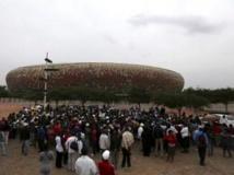 Le First National Bank Stadium de Soweto, communément appelé Soccer City. Johannesburg, le 9 décembre 2013. REUTERS/Siphiwe Sibeko