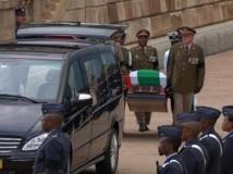 George Bizos n'a pas pu se recueillir devant la dépouille mortelle de Nelson Mandela. La faute à une organisation parfois chaotique. REUTERS/SABC