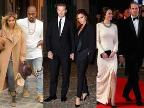Kim Kardashian et ET Kanye  West, Victoria et David  Beckham.....Les couples phares de  2013