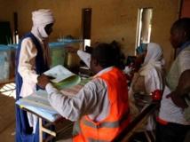 Un bureau de vote lors du premier tour, le samedi 23 novembre, à Nouakchott. RFI/Laura Martel