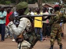 Un soldat tchadien dans une rue de Bangui, le 9 décembre 2013. REUTERS/Emmanuel Braun