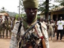 Un soldat tchadien au camp de Béal, à Bangui, le 9 décembre dernier. REUTERS/Emmanuel Braun