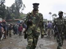 Des rebelles du M23 à Karuba, à l'ouest de Goma, le 28 novembre 2012. REUTERS/Goran Tomasevic