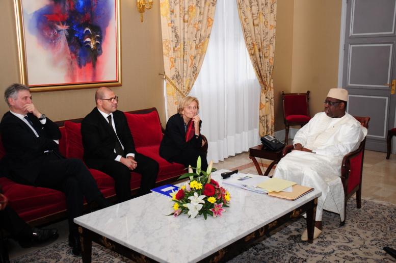 Photos Audience Mme Emma Bonino, ministre Affaires Etrangères Italie