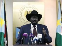 Le président du Soudan du Sud, Salva Kiir, lors d'une conférence de presse, à Juba, le 18 décembre 2013. Reuters/Goran Tomasevic