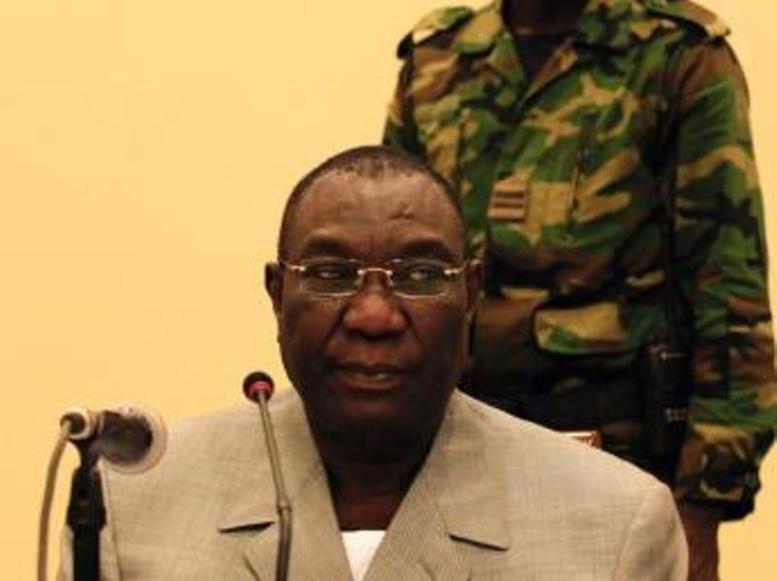 Michel Djotodia, président intérimaire de RCA, le 24 décembre 2013 à Bangui. REUTERS/Andreea Campeanu