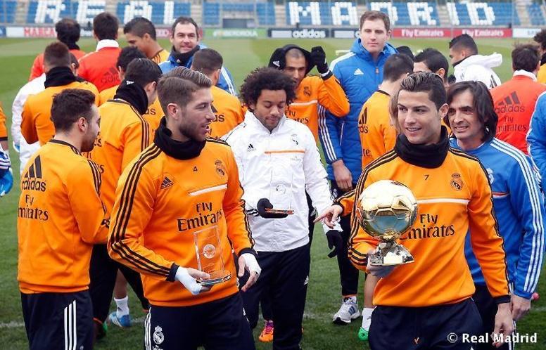 Ballon d'or: Ronaldo félicité par ses co-équipiers