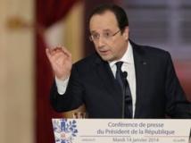 «Et je veux en terminer avec ce qui était, depuis 40 ans, la politique de la France avec la Centrafrique comme avec une partie de l'Afrique» a déclaré François Hollande. REUTERS/Philippe Wojazer