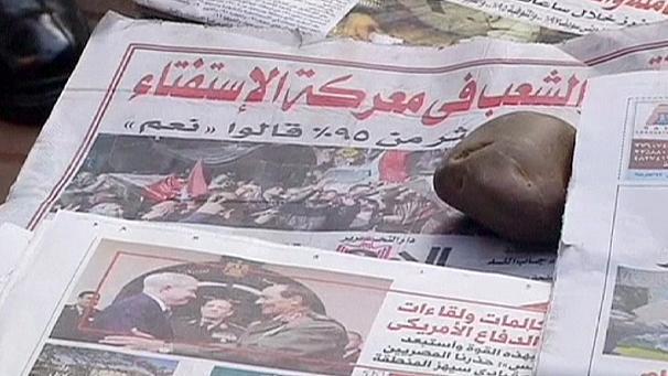 """Egypte : victoire écrasante et sans surprise du """"oui"""" au référendum"""