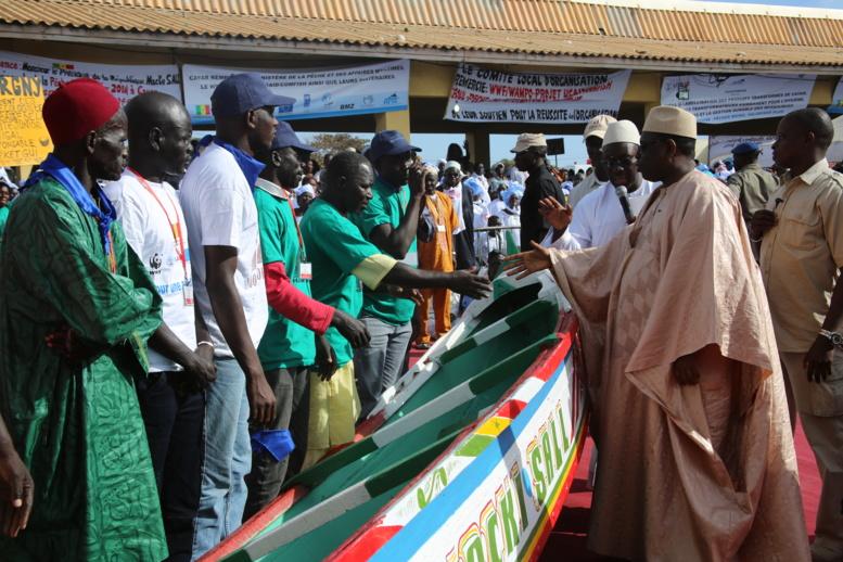 L'arrivée du président Sall à Kayar en images