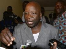 Simon Compaoré peu après son départ du CDP, le 7 janvier 2014. AFP PHOTO / AHMED OUOBA