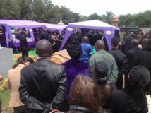 Obsèques à Johannesburg de Patrick Karegeya, l'ancien chef des services secrets du Rwanda, ce 19 janvier. RFI/Alexandra Brangeon