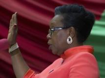 La présidente Catherine Samba-Panza lors de sa prestation de serment. REUTERS/Siegfried Modola