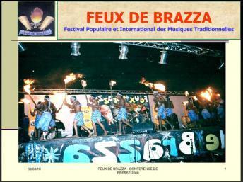 Aperçu d'un spectacle, lors d'une des éditions du Festival les «Feux de Brazza» au Congo-Brazzaville. http://lesfeuxdebrazza.free.fr