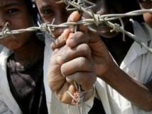 Réfugiés érythréens au Soudan, en février 2013. AFP PHOTO/ASHRAF SHAZLY