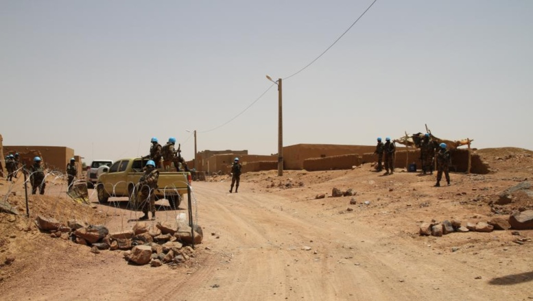 L'un des 7 check-point à l'entrée de Kidal, contrôlé par les casques bleus de la Minusma Claude Verlon / RFI