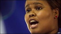 Lindiwe Mazibuko, leader de l'Alliance Democratique en Afrique du Sud le 14 Mai 2013