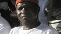 Kumba Yala, dirigeant du PRS, lors d'un meeting à Bissau. Marie-Laure Josselin /RFI