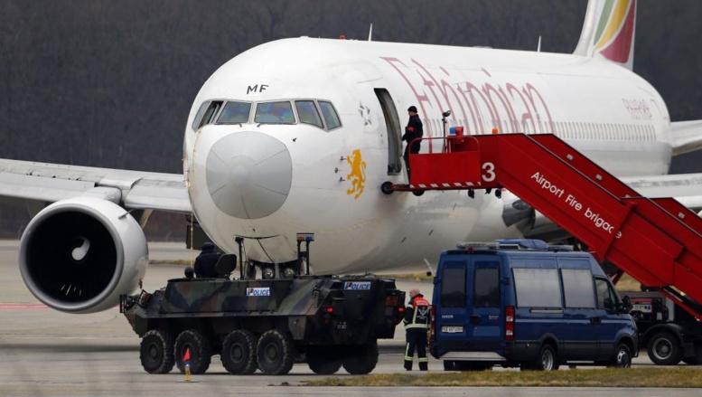 Heureux dénouement après le détournement d'un avion sur Genève