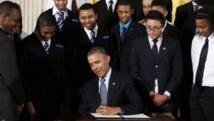 Barack Obama a lancé, ce 27 février 2014 un programme de soutien aux jeunes défavorisés. REUTERS/Kevin Lamarque