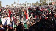 Le 7 février 2014, des manifestations avaient déjà eu lieu pour protester contre la décision des députés du Congrès général national de prolonger leur mandat, Libye. REUTERS/Ismail Zitouny