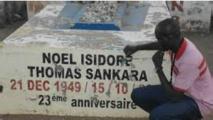 La tombe de l'ancien président Thomas Sankara au cimetière de Dagnoen, un quartier au Centre-Est de Ouagadougou
