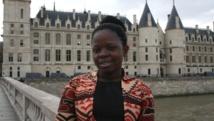 Ange Mukajimwenyi-Nsapu, devant le Palais de justice de Paris, le 4 mars 2014.