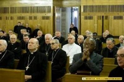 Le Pape François en retraite avec les membres de la Curie, sur le thème : « la purification du cœur »