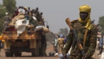 Un soldat tchadien de la Misca dans une rue de Bangui, le 22 janvier 2014. REUTERS/Siegfried Modola