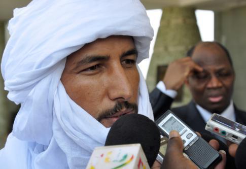 Bilal Ag Acherif, le chef politique du MNLA, en novembre 2012 à Ouagadougou - AFP / Ahmed OUOBA