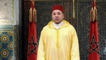 Casablanca, le 30 juillet, discours du roi Mohamed VI lors de la fête du trône. AFP PHOTO / Moroccan Press Agency / HANDOUT