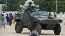 La présence de l'armée a été renforcé à Maiduguri depuis la mise en place de l'état d'urgence l'an dernier.