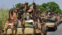 Soldats tchadiens à Damara, en République centrafricaine, le 2 janvier 2013. AFP / Sia Kambou
