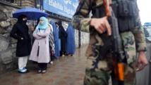 Kaboul, le 5 avril 2014. Sécurité maximale le jour du scrutin présidentiel en Afghanistan. REUTERS/Tim Wimborne