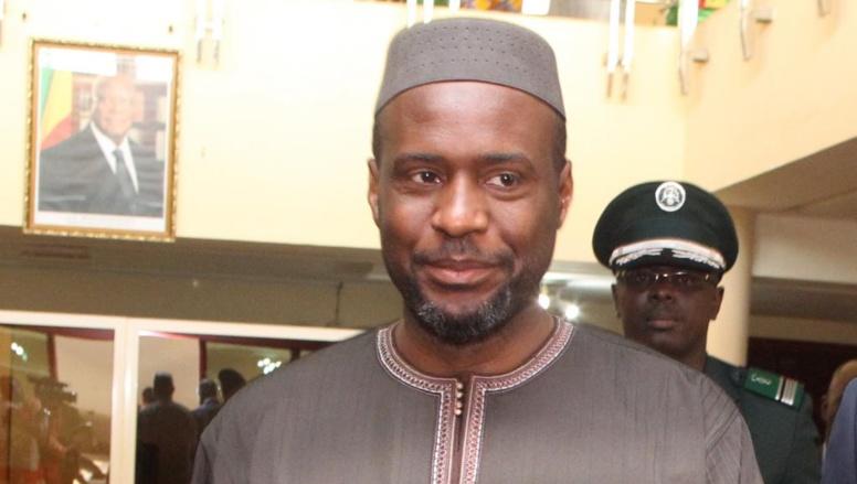 Moussa Mara, le 9 avril à Bamako, lors de sa prise de fonction en tant que nouveau Premier minitsre malien.