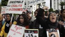 Des femmes participent à une marche, au Maroc (archives)