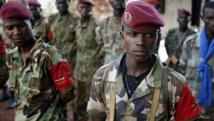 Des combattants de l'ex-Seleka, à Bria, le 9 avril 2014. REUTERS/Goran Tomasevic