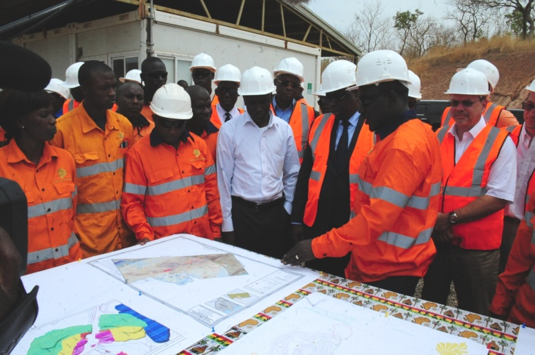 Macky Sall : l'immersion dans les mines d'or de Sabodala