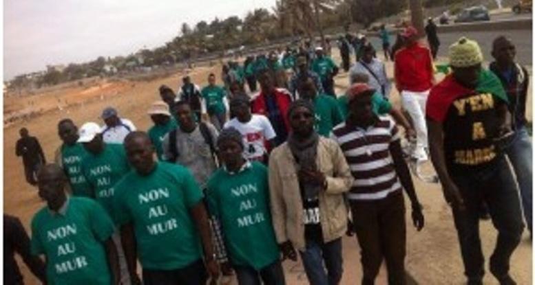 """Collectif """"non au mur"""": leur marche interdite, Fadel Barro et Cie sur le pied de guerre ce samedi"""