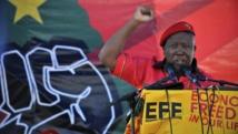 Julius Malema lors du lancement de son nouveau parti politique, les Combattants pour la liberté économique (Economic Freedom Fighters, EFF), à Marikana, Afrique du Sud, le 14 octobre 2013.