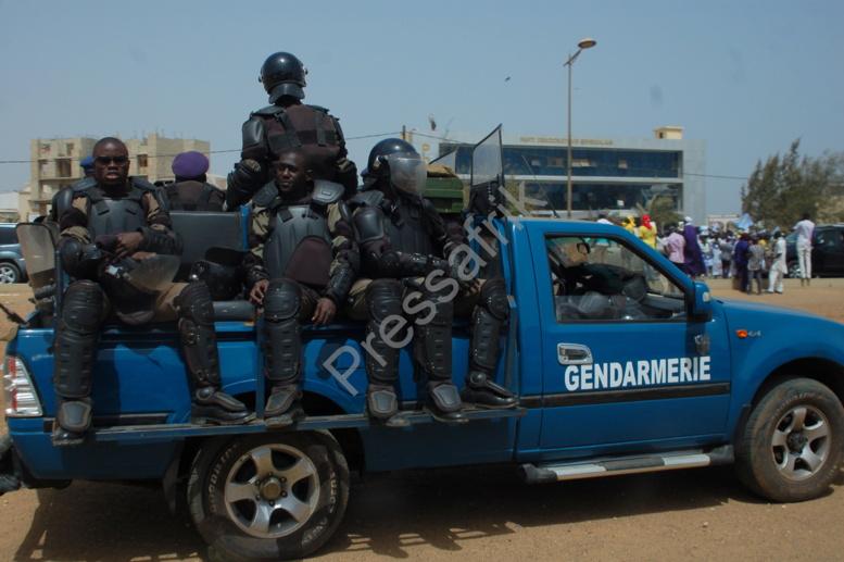 Arrivée de Wade : 4 cargos, un pick remplis de gendarmes veillent au grain à la permanence du PDS