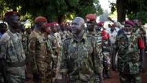 Le général Dhaffane, président par intérim de l'ex-Seleka à Bria , où ses troupes sont divisées, le 9 avril 2014. REUTERS/Goran Tomasevic