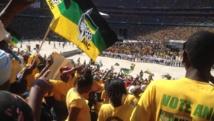 Dernier meeting de l'ANC au grand stade de Soweto avant l'élection de mercredi, ce dimanche 4 mai 2014.RFI/Alexandra Brangeon