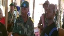 Capture d'écran de la vidéo montrant Morgan (à droite) au millieu des FARDC.