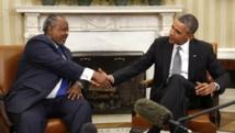 Le président américain, Barack Obama a reçu son homologue djiboutien, Ismaïl Omar Guelleh à la Maison Blanche, le 5 mai 2014.