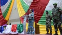 Discours de la présidente de transition, Catherine Samba-Panza, aux membres du Conseil national de la transition, à Bangui, le 6 mai 2014.